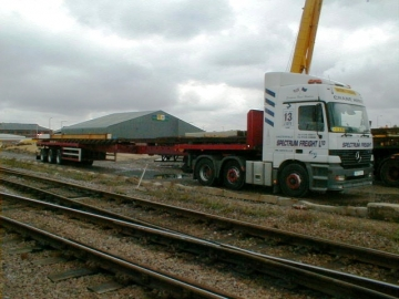 Rail Crane Lorries  For Trackside Deliveries Of Equipment