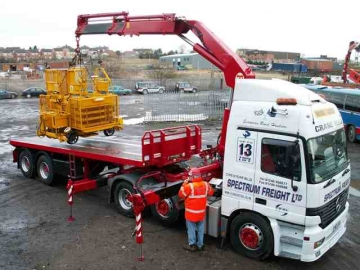 Short Articulated Trailers For Tight Access Sites  - All With Hiab Crane Truck
