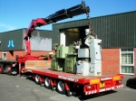 20ft Drawbar Trailers With Crane Truck  And Hiab For Hire