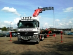 Cabins and containers - our range of hiab hire lorry cranes allows us to move most cabins & containers and offload them.